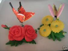 Magnet of Flower with Butterfly (set of 2) - #4080