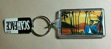 NEW AS IS SCARFACE TONY PACINO GUN SUNSET PALM TREES ZIPPER MOVIE RARE KEYCHAIN