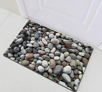 Area Rug Non-skid Kitchen Room Door Bath Mat Stacked Pebbles Home Floor Carpet