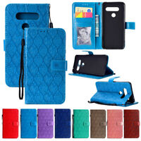 For LG Q6 G7 Stylus 4 V30 V40 PU Leather Flip Case Card Slots Wallet Stand Cover
