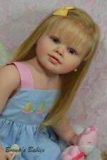 CUSTOM ORDER Reborn Doll Standing Toddler Perla by Jannie De Lange