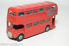 DINKY TOYS 289 LONDON ROUTEMASTER BUS COACH RED  EXCELLENT CONDITION