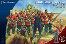 British Zulu War Infantry 1877/81 - 28mm figures x38 - Perry VLW20 - P3