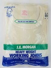 Vintage J E Morgan Long John Thermal Base Layer Shirt Super Soft  2 XL XXLarge