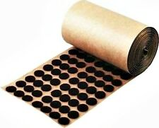 "1,000 Brown Adhesive Backed Felt Pads Dots 1/2"" Button Protection Free Shipping"