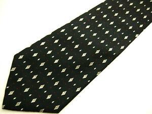 "Polo Ralph Lauren Mens Necktie Tie Black Grey Red Geometric Silk Wide 60"""