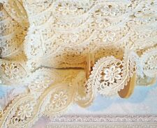5mts CREAM GUIPURE TYPE LACE WEDDING  TRIM 57mm