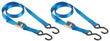 Master Eco 4368EURDAT Set Riemen, selbstsichernde Schnallen + S-Haken, blau