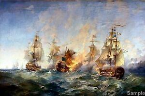 Battle Of Tendra Island Blinkov 1790 Painting Poster Fine Art Re-Print A3 A4