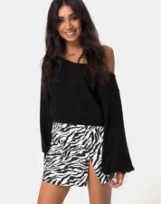 1b3b87b22b MOTEL ROCKS Pelmet Mini Skirt in 90's Zebra S Small (mr52)
