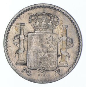 Better Date - 1896 Puerto Rico 5 Centavos - SILVER *713