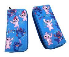 Disney's Lilo & Stitch Zip Around Pu Leather Hand Purse Clutch Wallet