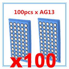BATERÍA LR44 100 AG13 X ALCALINA G13-A D303 L1154 L1154F EPX76 A76 RW82 SR44 wp