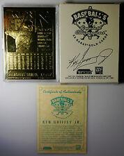 KEN GRIFFEY JR BASEBALL KARTE 23 KARAT Goldkarte von 1996 mit Zertifikat und OVP