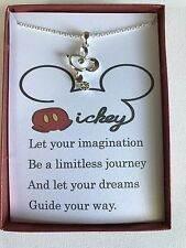Mickey Mouse Inspired Necklace w/ poem