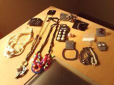 Lavoro Lotto di Bigiotteria ~ collane bracciali anelli///Orecchini RRP £ 95.00