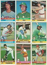 Topps Baseball Cards 1976 - Complete Your Set - Commons Pick 10 Average EM