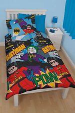 OFFICIAL Lego Batman Dynamic Kids Reversible Duvet Quilt Cover Single Bed