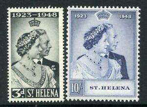 St Helena 1948 Silver Wedding Set SG143/4 fine MNH