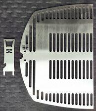 Grillrost + Heber 1/2 f. Weber Q300 q3000 3200 4mm Edelstahl Rost zweiteilig EE