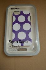 Incase iPhone 5 / 5S, and iPhone SE Snap Case Purple / White Dots CL69104