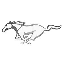 """Ford Mustang Pony 12"""" 3M Perforated Unobstructed View Window Graphic Decal"""