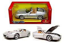 HOT WHEELS 1:18 MASS - FERRARI SUPERAMERICA Silver Diecast Car J2873
