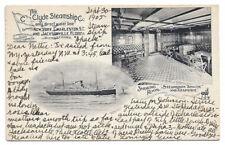Steamship APACHE -- Interior View Post Card, 1905 -- Clyde Steamship Co.