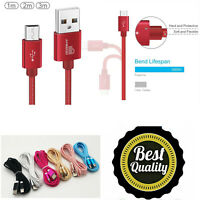 Fast Charger For Motorola Moto Data Charging Cable Braided Micro USB Lead