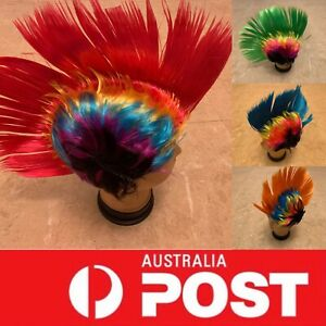 1980s Classic Rock Punk costume Mohawk Wigs,rainbow party cosplay wigs,AU stock
