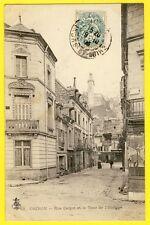 cpa 37 - CHINON (Indre et Loire) Rue CARNOT et la TOUR de l'HORLOGE