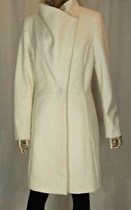 ELIE TAHARI~NWT!!~WINTER WHITE WOOL BLEND DRESS COAT MID CALF LENGTH-SZ:10