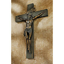 King of the Jews Jesus Christ Crucifixion Cross Wall Sculpture