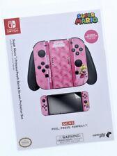 Nintendo Switch Skin & Screen Protector Set Super Mario Princess Peach Joy-Con