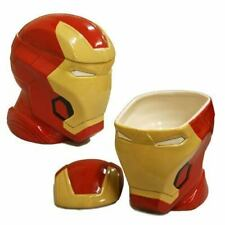 Marvel Avenger Iron Man Head Helmet/Mask Figure Replica Ceramic Cookie Jar Decor