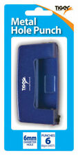 Tiger Small Metal Hole Punch,Assorted black, blue & silver.Ideal for School,ect