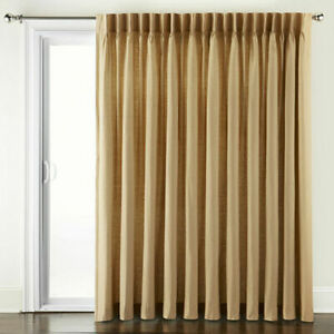 JCPenney Supreme Thermal Energy Pinch-Pleat Back Tab Soft Gold  Curtain 100 x 95