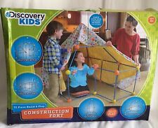 Discovery Kids Construction Fort Playhouse 72+ Pieces Complete Building Set