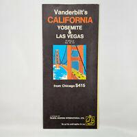 1970s Vanderbilt's California Vintage Travel Brochure Yosemite Las Vegas CA