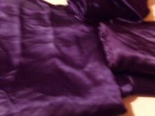 King Size Sheets 4 Piece Satin Purple Flat Fitted Sheet Set Pillowcases