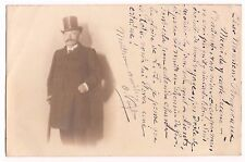 CARTE PHOTO HOMME CHAPEAU HAUT DE FORME - DND RPPC - Postkarte