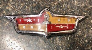 1953 DeSoto Hood Emblem & Chrome Bezel DPCD Mopar Vintage 1952 1951 1954