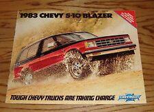 Original 1983 Chevrolet Truck S-10 Blazer Sales Brochure 83 Chevy