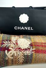Authenticated Ultra Rare Chanel Tweed Blanket / Bed Throw 158cm x 169cm