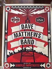 Dave Matthews Band poster BankPlus Amphitheater Southaven, MS 5/20/15