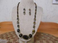 Beautiful Handmade Tiger Eye Necklace and Earring Set