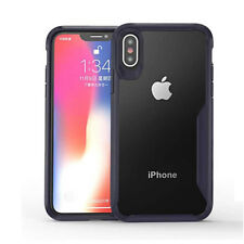 For iPhone XS Max XR X 8 7 6 Shockproof Silicone Bumper Hybrid Case Clear Cover