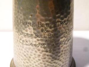 1946 FRANK BLUFF TROPHY Won Sir George Bull Bart DAZZLE Pewter Tankard #P6 *