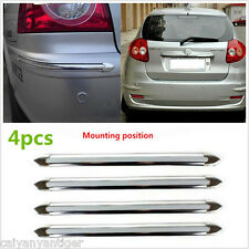 Silver Chrome Car Bumper Corner Guard Protector Cover Strip Moulding Universal