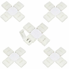 10 x LED Strip X Shape Connector Single Colour 3528 8mm